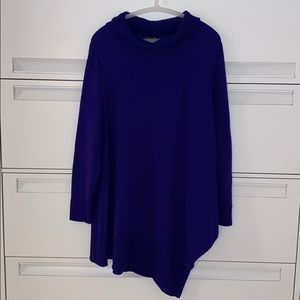 Eileen Fisher Purple Asymmetrical Sweater